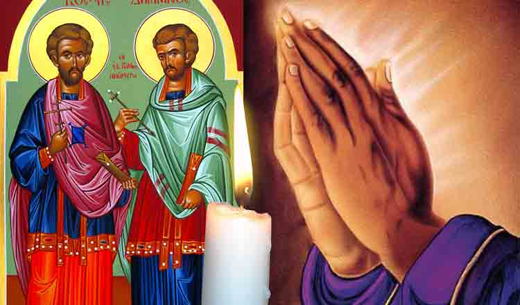 Rugăciunea la sfinții doctori fără de arginți Cosma și Damian, duce la vindecare…
