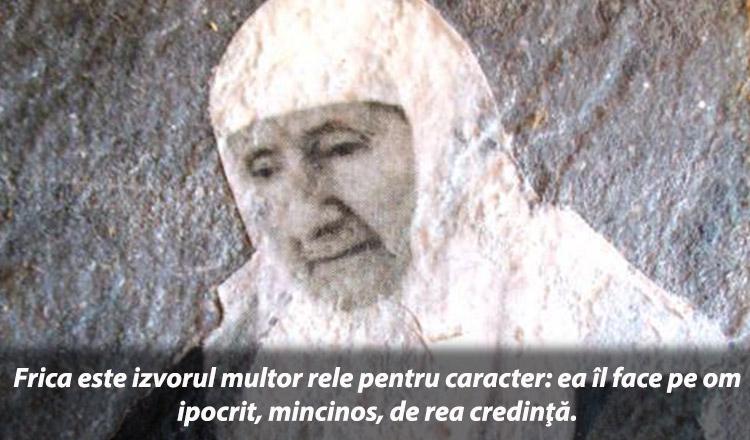 Scrisoarea despre frică a Maicii Gavrilia Papaiannis!
