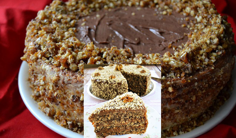 Rețeta de tort cu nucă, pe care o poți prepara de Crăciun!