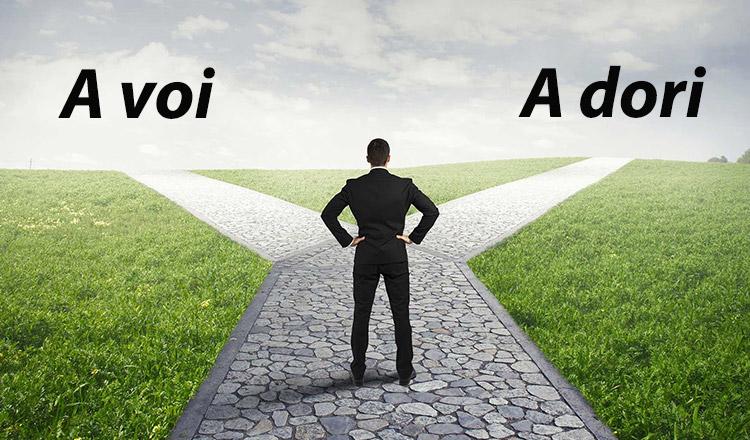 Ce alegi dintre a voi și a dori?