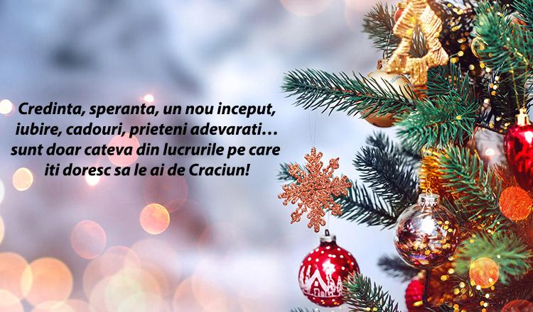 Cele mai frumoase mesaje de Crăciun… Le poți trimite oricând prietenilor și apropiaților!