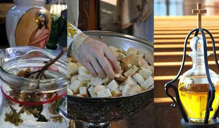 Cum te ajută anafura, aghiazma şi uleiul sfinţit la biserică