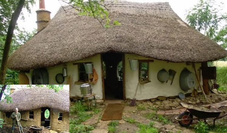 Casa din chirpici, construită de un bărbat cu doar 900 de lei!
