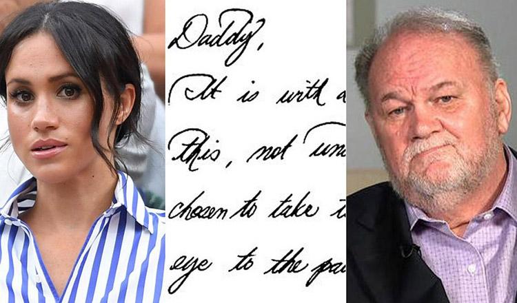 Ce scrisoare a putut să îi scrie Meghan Markle, tatălui ei…