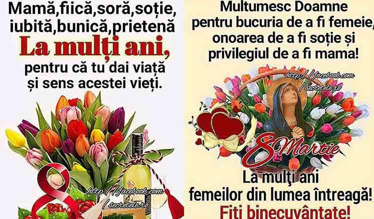 Felicitări 8 Martie 2019. Cele mai frumoase 5 imagini cu mesaje pentru 8 Martie: La mulţi ani de 8 Martie!