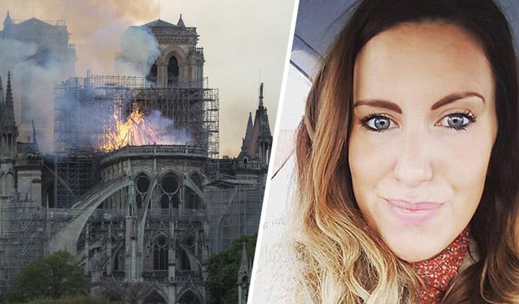 O femeie a văzut silueta lui Iisus în flăcările care ardeau Catedrala Notre Dame