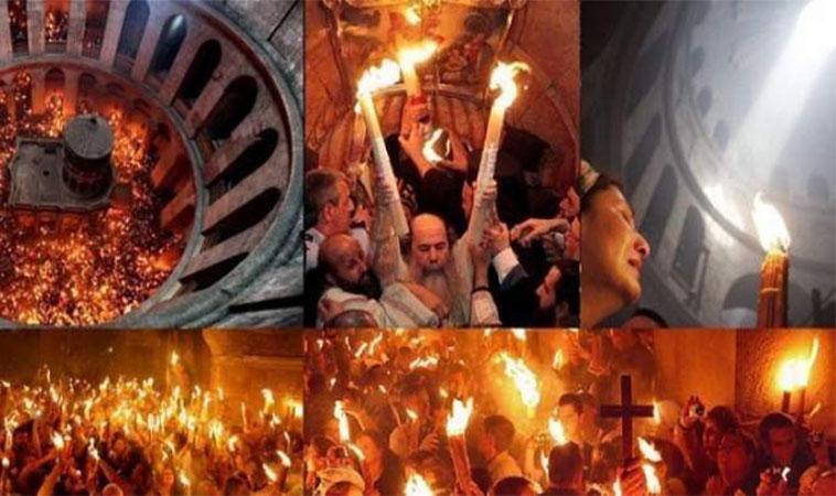 Sfânta Lumină de la Ierusalim, miracol al credinței. Explicația mănunchiului de 33 de lumânări, din mâinile preoților, la Înviere