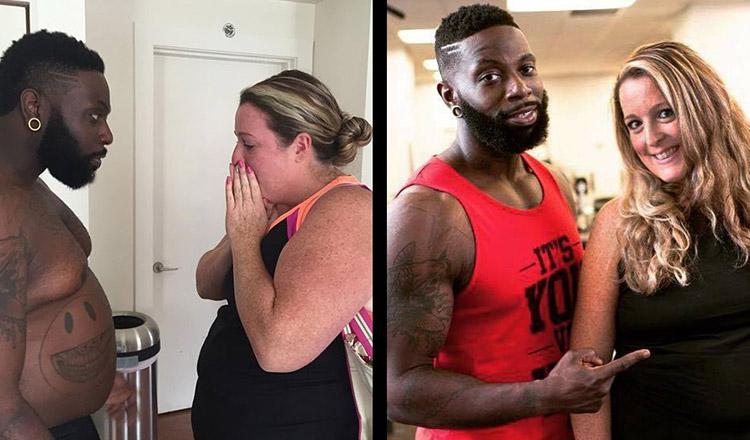 Un instructor personal s-a îngrășat 32 de kg, pentru a le da jos împreună cu clienta sa