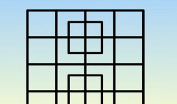Câte pătrate se ascund în această imagine?