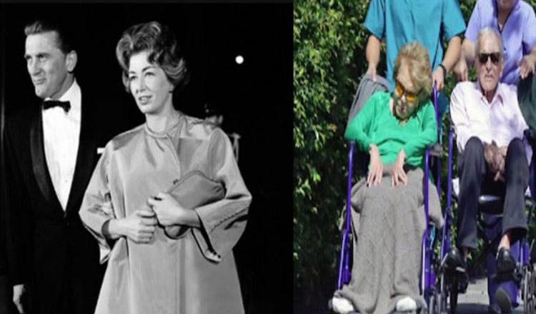 O lecție frumoasă de iubire! Sunt de nedespărţit după 64 de ani de căsnicie fericită. Kirk Douglas şi Anne Buydens