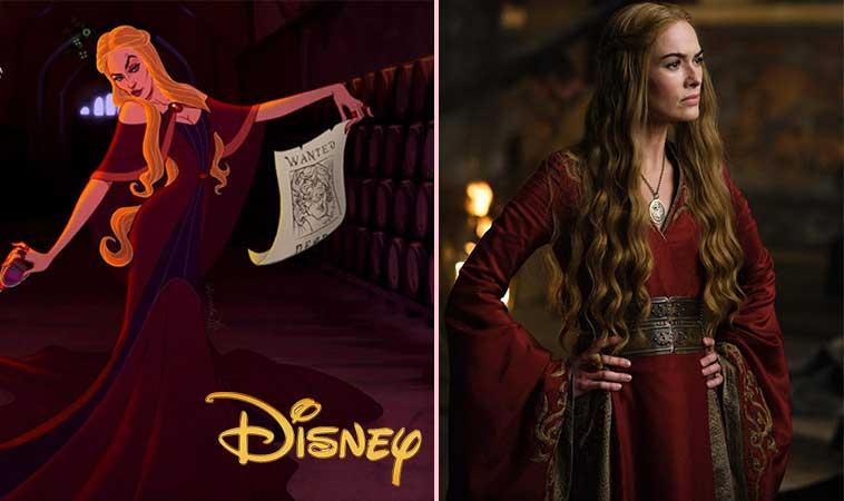 """Uite cum ar fi arătat personajele din  """"Game Of Thrones"""", dacă ar fi fost desenate de Disney"""